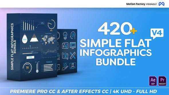 Videohive Simple Flat Infographics Bundle v4 22266430