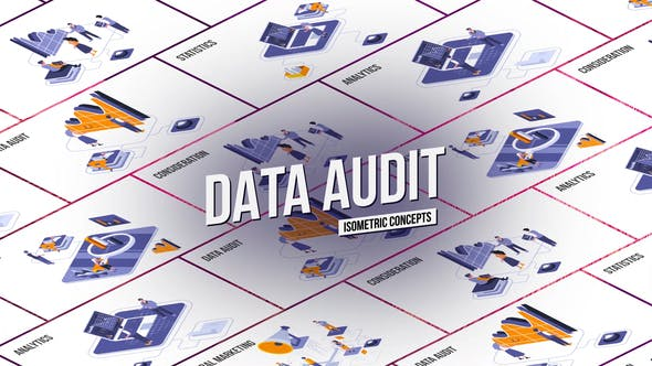 Videohive Data audit Isometric Concept 28986817