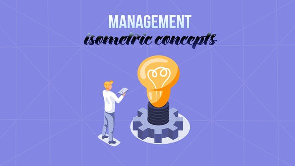 Videohive Management Isometric Concept 29057189