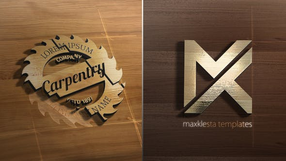 Videohive Wood 3D Logo Reveal 27121141