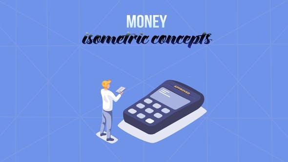 Videohive Money Isometric Concept 29057224