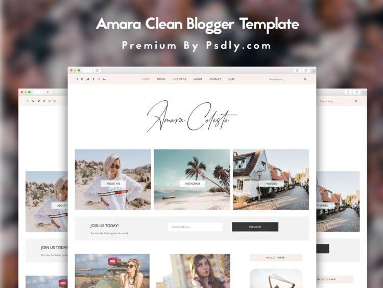 Amra Blogger Template Premium Version Free Download