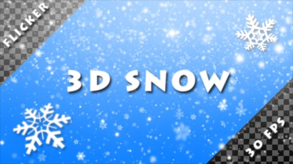 Videohive Flicker 3D Snow Alpha Pack 22916520