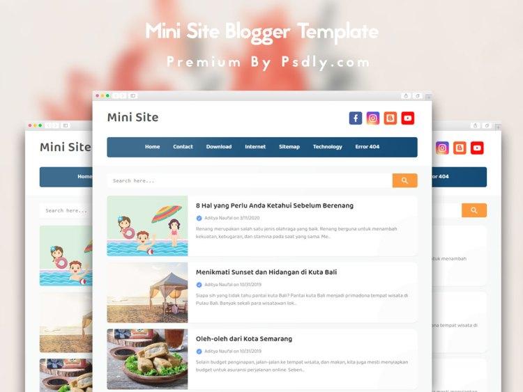 Mini SIte Pro Blogger Template High CTR