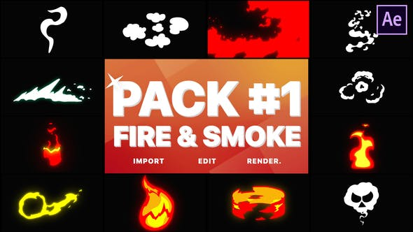 Videohive Fire And Smoke Pack 01 After Effects 28902538