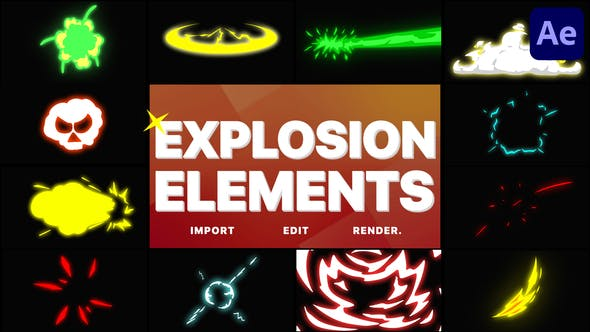 Videohive Explosion Elements After Effects 29001474