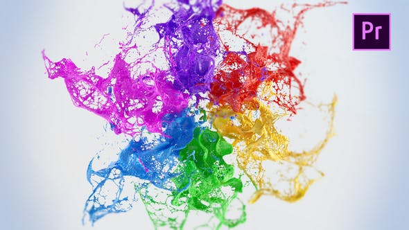 Videohive - Playing Paints Logo Reveal – Premiere Pro - 23099141