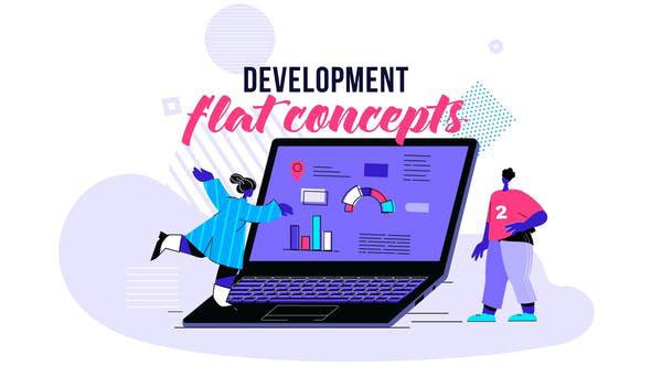 Videohive Development Flat Concept 28730432