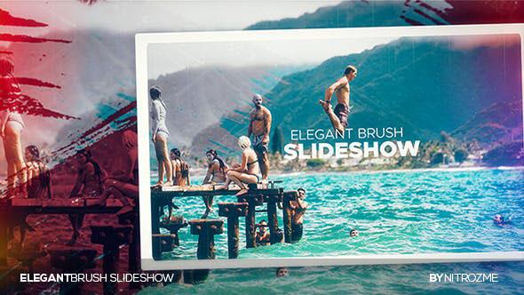 Videohive Elegant Brush Slideshow 20435701