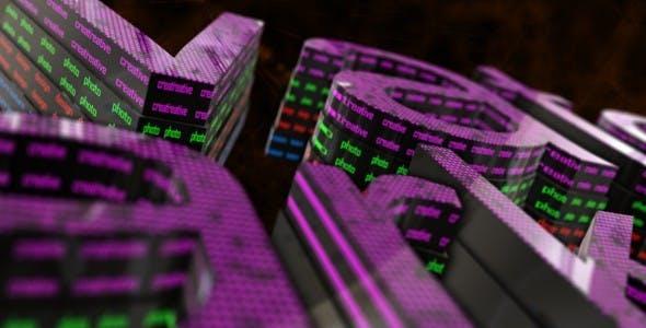 Videohive Neon Logo Text 9813236