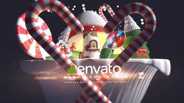 Videohive - 3d Cartoon Christmas Logo - 29348492