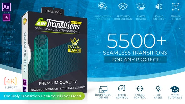 Videohive AinTransitions Ultimate Multipurpose Transitions Pack 26050211