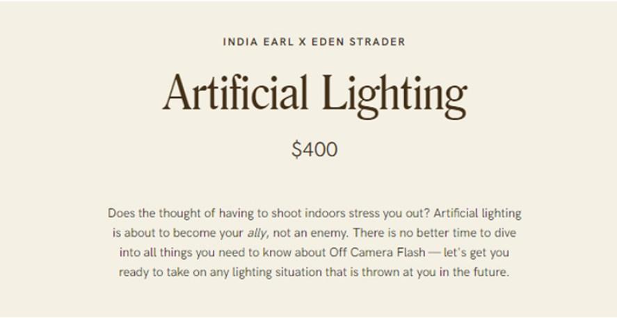 India Earl Education – Artificial Lighting