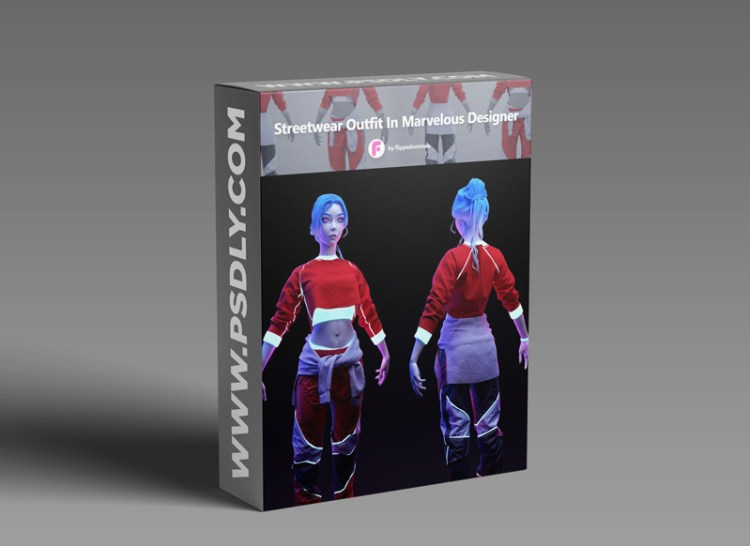FlippedNormals – Streetwear outfit in Marvelous Designer