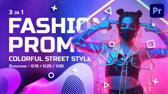 Videohive - Colorful Street Style Fashion Promo | Mogrt - 29593243