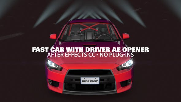Videohive Fast Car with Driver Opener 23757091