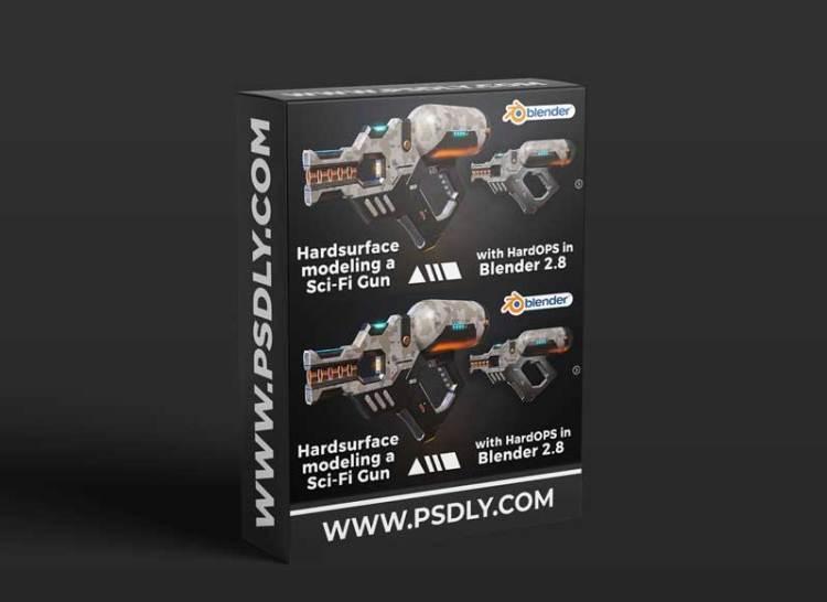 Artstation – Hardsurface modeling a Sci-Fi Gun with HardOPS in Blender 2.8