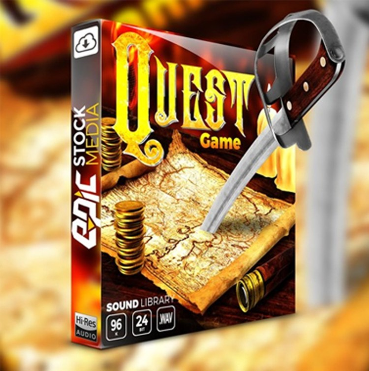 Epic Stock Media Quest Game WAV