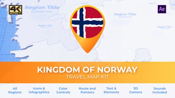 Videohive Norway Map Kingdom of Norway Travel Map 30570172