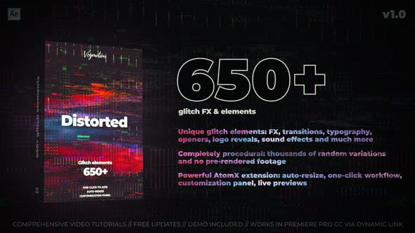 Videohive 650+ Glitch Elements 29662551