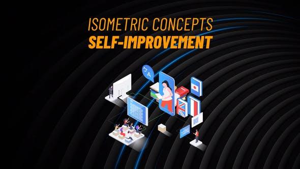 Videohive Self-Improvement Isometric Concept 31223582