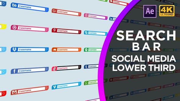Videohive Social Media Search Bar 30958598