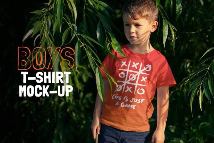 Boys T-shirt Mock-up YBNPLKH
