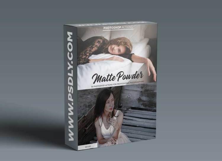 CreativeMarket - Matte Powder Actions for Photoshop 4847029