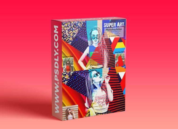 CreativeMarket - Super Art Photoshop Action 5922257