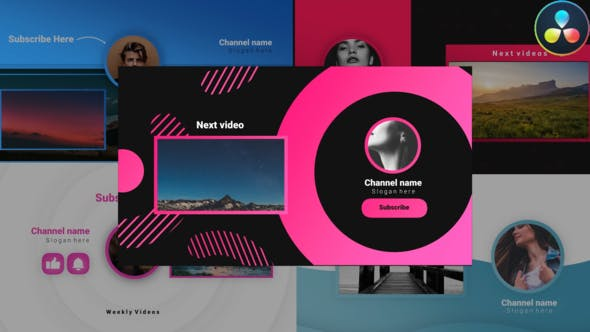 Videohive Youtube Stylish Endscreens 30809288
