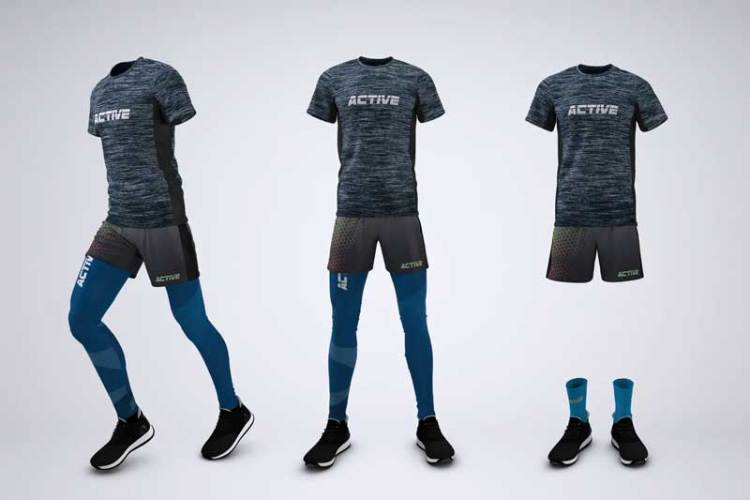 Running Outfit Mock-Up TVVC7YW