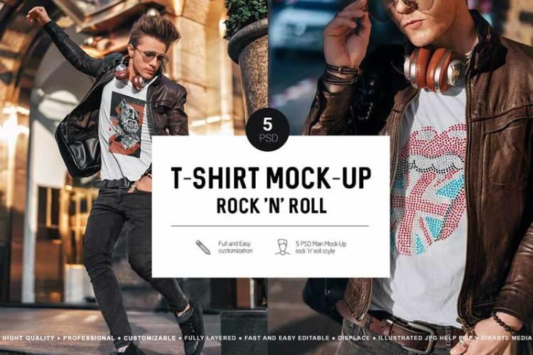 T-Shirt Mock-Up Music Style XNTHYLC