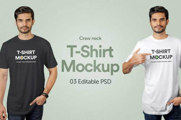 T-Shirt Mockup - Vol 01 G9YJFC2
