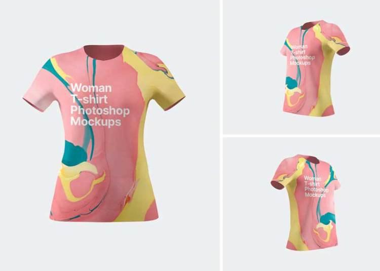 Woman T-Shirt Mockups