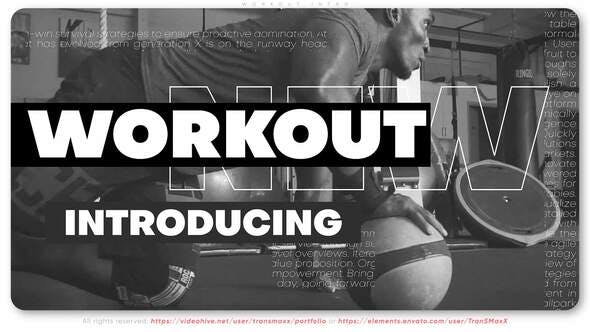 Videohive Workout Intro 31274789