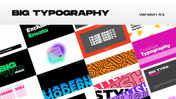 Videohive Big Typography 31124085