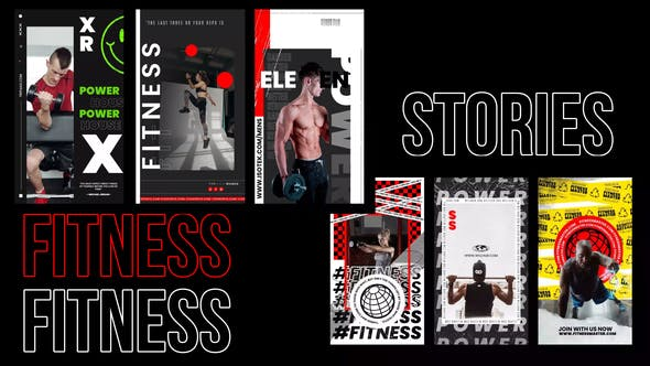 Videohive Creative target fitness stories 31221103