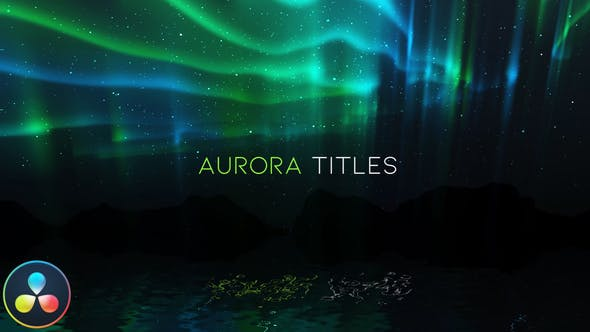 Videohive Aurora Titles DaVinci Resolve 31279418