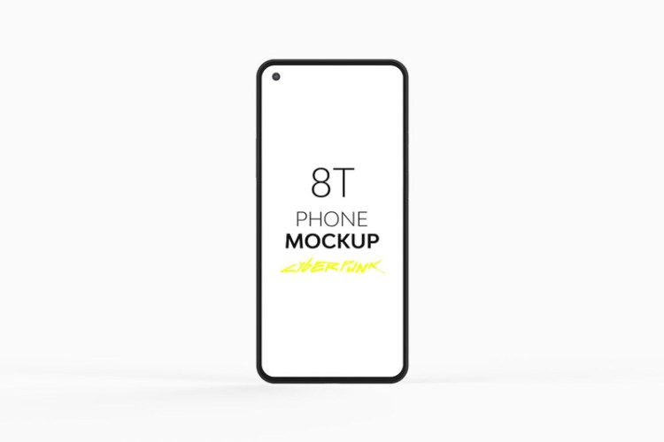 8T Cyberpunk Phone Mockup