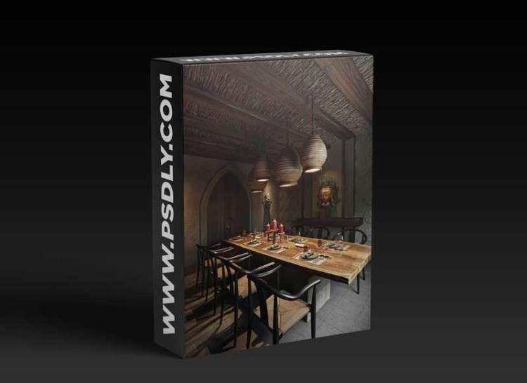 Diningroom Scene by Hoang