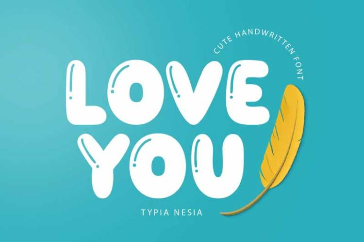 Love You - Funny Cute Balloon font