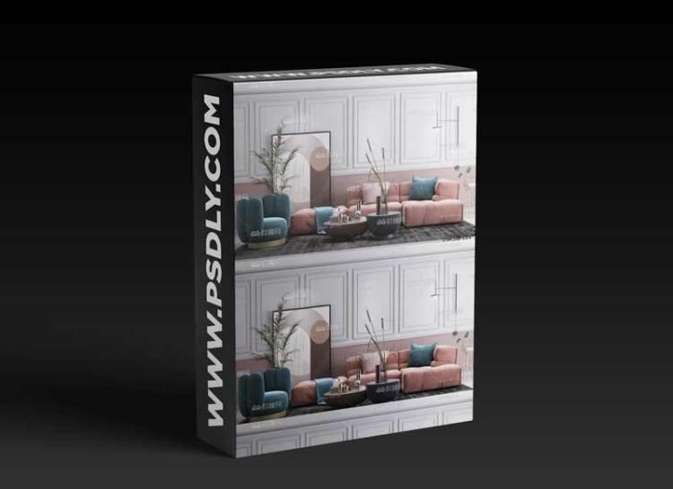 Modern fabric sofa combination 02