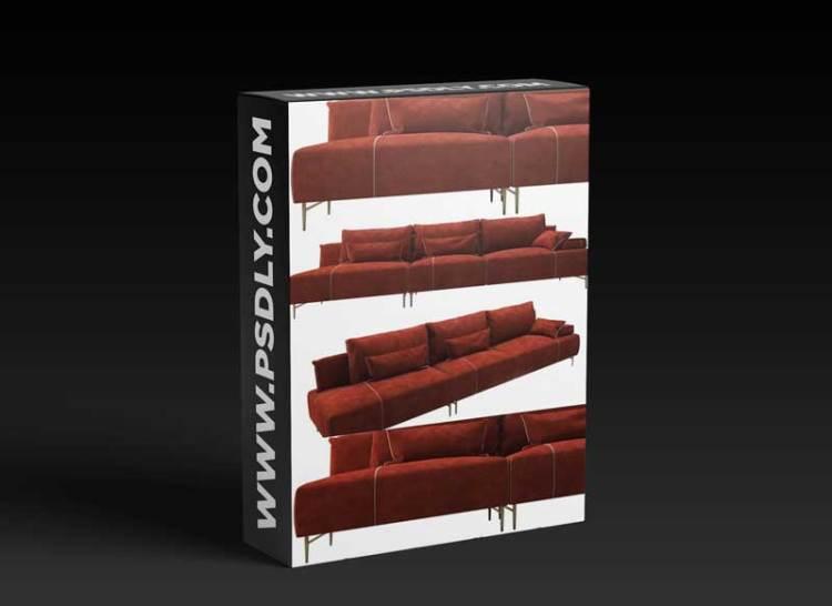 Modern fabric sofa combination 03