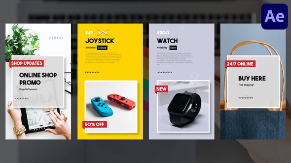 Videohive Online Shop Vertical Promo Slideshow After Effects 31625435