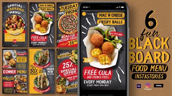 Videohive Fun Blackboard Food Menu Instagram Stories 31750222