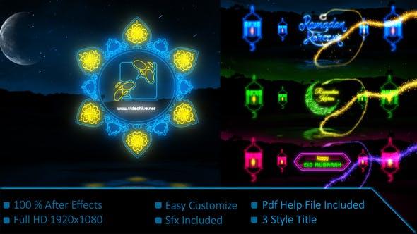 Videohive Neon Light Ramadan Kareem 21901807