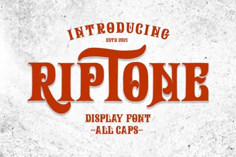 Riptone - Display font