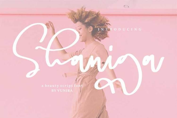 Shaniga | A beauty Script Font