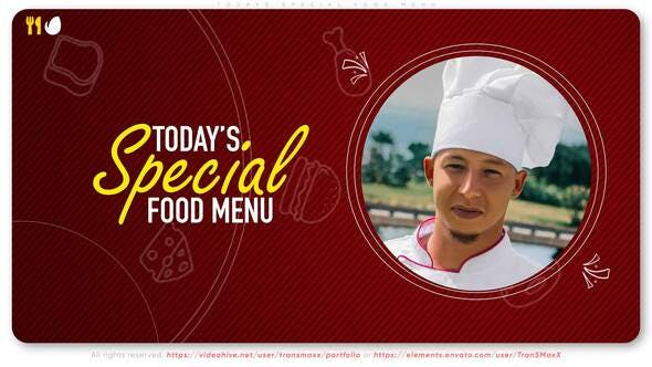 Videohive Today's Special Food Menu 31751072