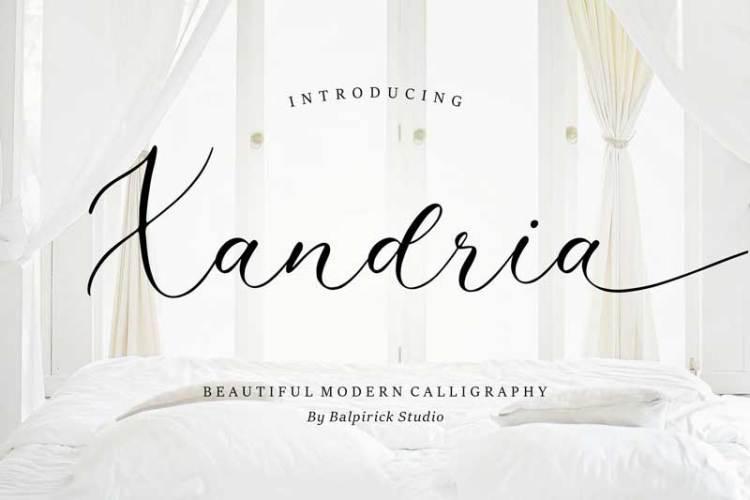 Xandria Script Font YH